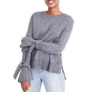Grey Madewell tie sleeve sweater